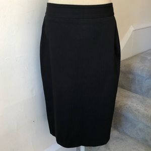 BOSS Hugo Boss Cotton Blend Pinstripe Pencil Skirt